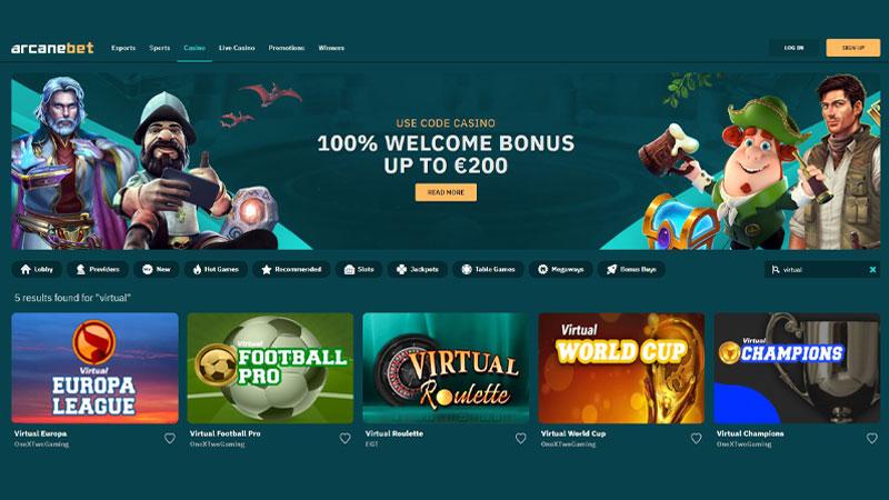 Virtual sports betting at Arcanebet